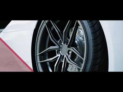"""BMW with 20"""" Ferrada FR5 forged wheels"""