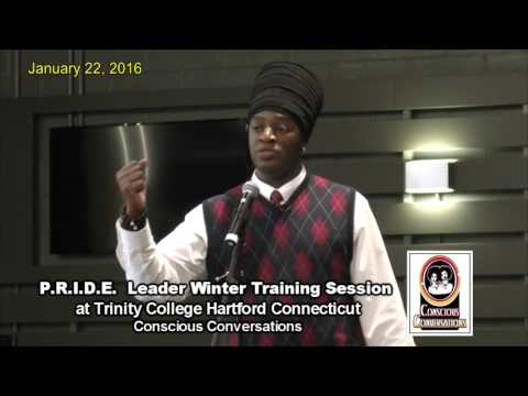 Alphonso McGriff III speaks at Trinity College - Hartford, CT 1/22/16