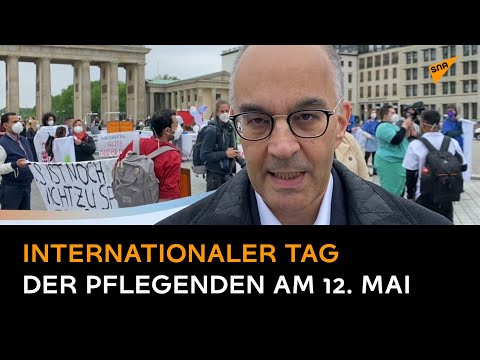Pflegekräfte demonstrieren in Berlin