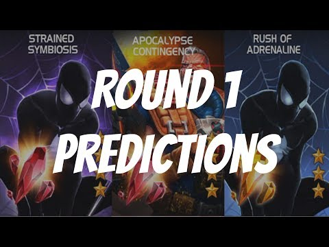 Marvel Contest of Champions Arena Cutoff - Spider-Man Symbiote and Cable Round 1 Predictions