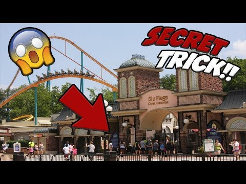 How To Get In Sixflags For FREE! *SECRET TRICK *