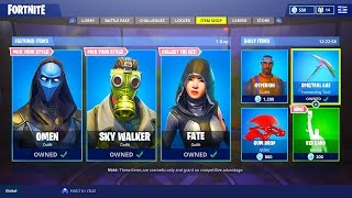 "*NEW* ""Omen + Sky Walker + Fate"" SKINS COMING TO FORTNITE! NEW SKIN UPDATE (Fortnite Battle Royale)"
