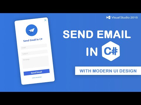 How to Send Emails in C# with Modern Ui design