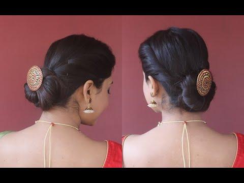 easy-2min-festive-hairstyle|judabun-hairtstyle|step-by-step|asmita