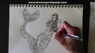 Dessiner une sirène, Drawing a Mermaid, PaoloMorrone