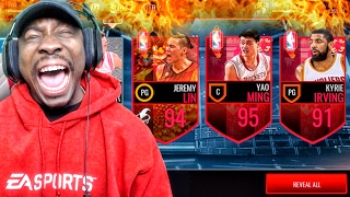 GUARANTEED 95 OVERALL YAO MING IN FIRE ROOSTER PACK OPENING! NBA Live Mobile 16 Gameplay Ep. 72