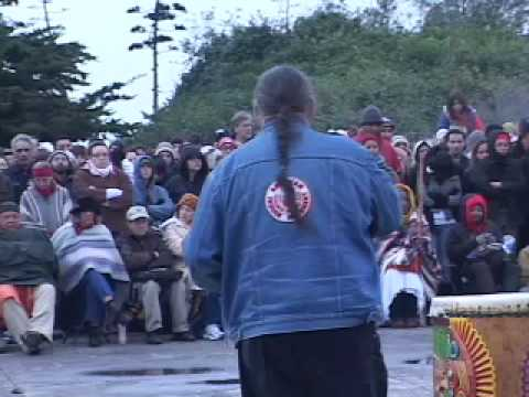 Clyde Bellecourt - Alcatraz Sunrise Ceremony 2008 - pt.1