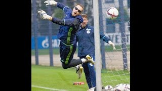 FC Schalke 04 Goal Keeper Training with Visionup Strobe Glasses for Reflex and Reaction