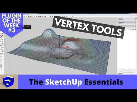 Organic Modeling in SketchUp with Vertex Tools - Plugin of the Week #3