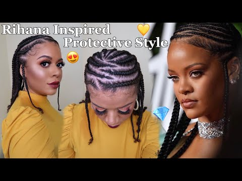 cornrows-&-braids-protective-style-inspired-by-rihanna-no-added-hair-|-natural-hair-styles