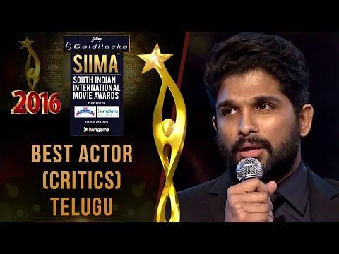 SIIMA 2016 Best Actor(Critics) Telugu   Allu Arjun - Rudramadevi