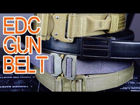 EDC Gun Belt - Belt options for concealed carry