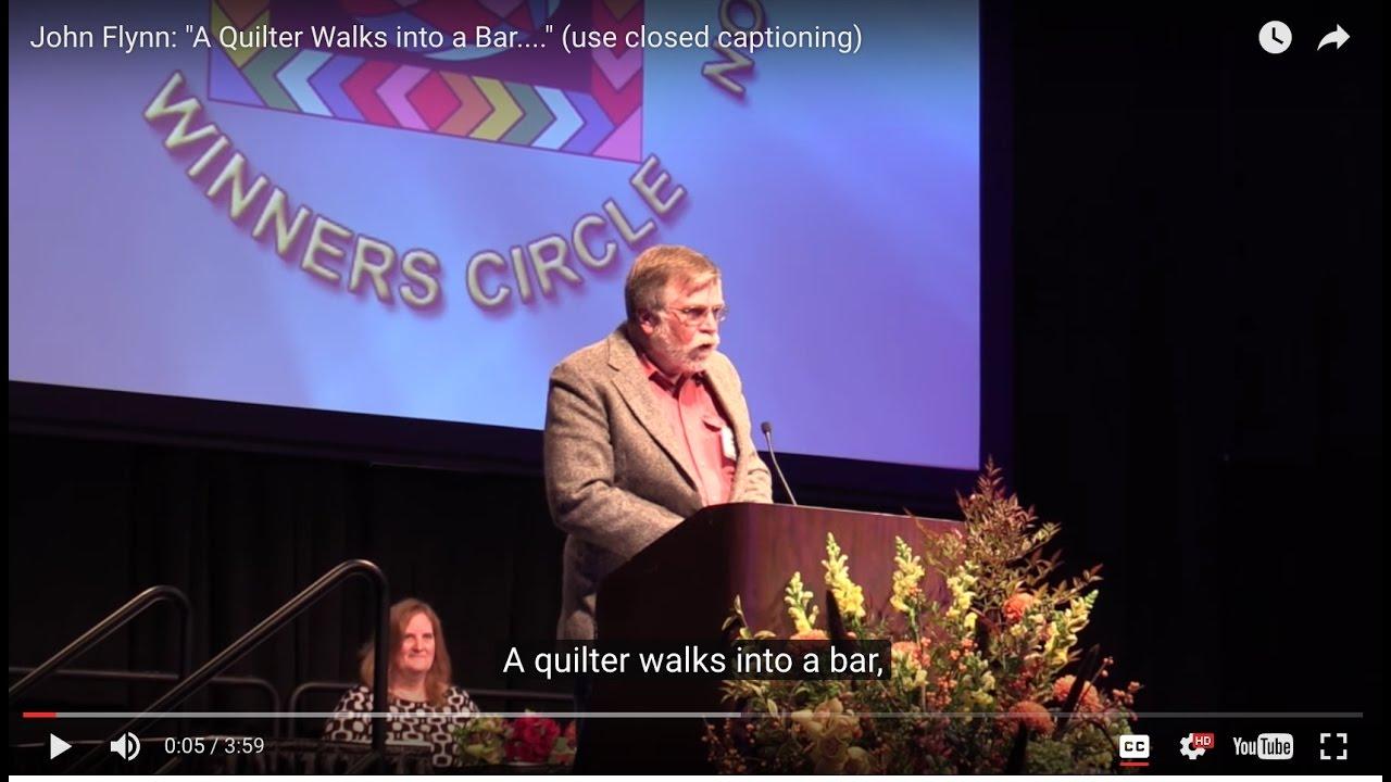 John Flynn A Quilter Walks Into A Bar Use Closed Captioning