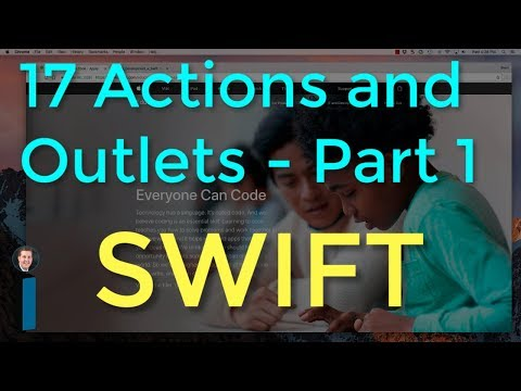 17 Actions and Outlets, Part 1 - Intro to App Development with Swift