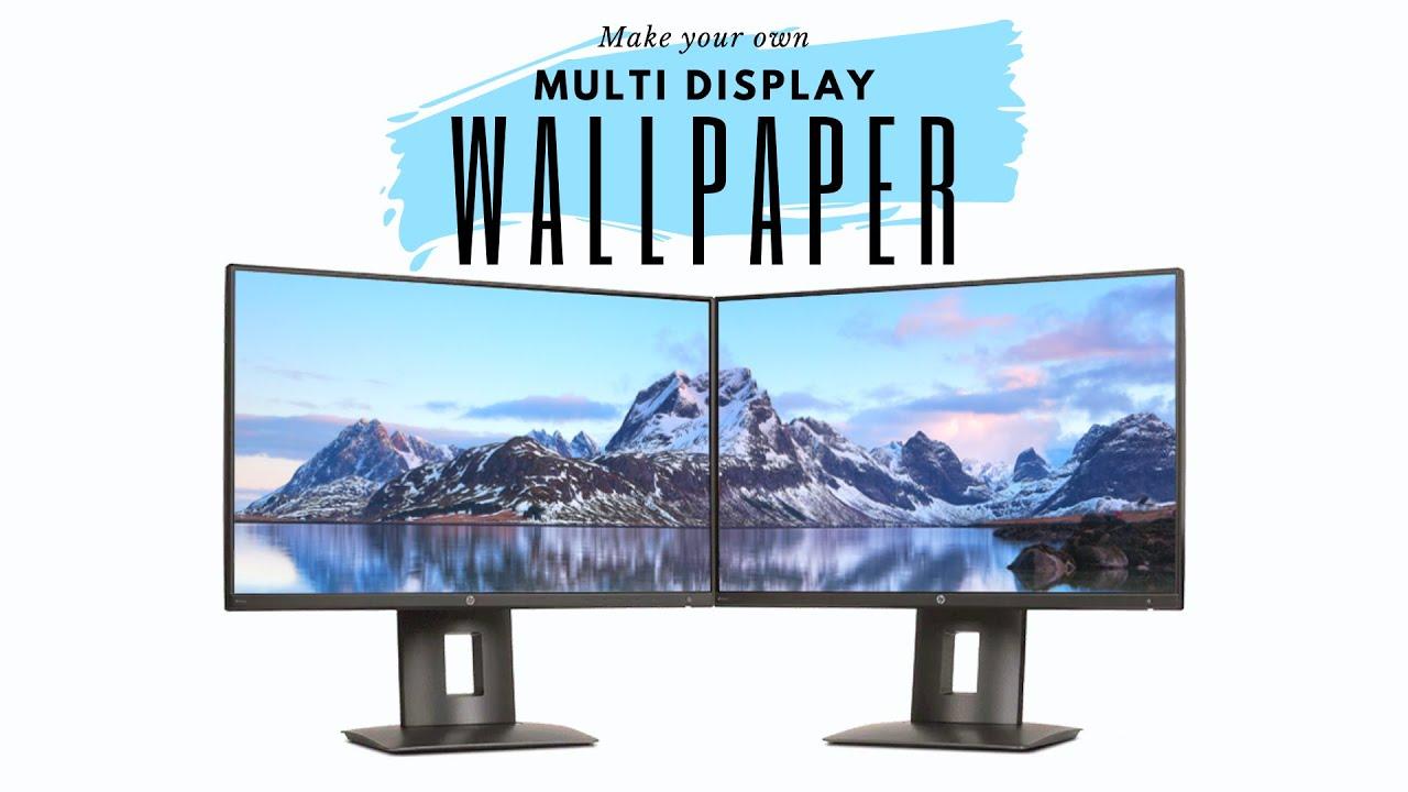 Dual Multiple Monitor Span A Single Wallpaper Across Screens Youtube