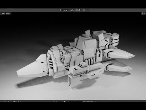 Spacecraft Speed Modeling - Grid Modeler (blender addon)