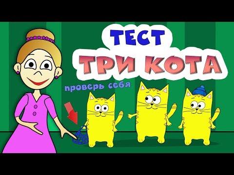 Три кота - ТЕСТ на ВНИМАТЕЛЬНОСТЬ 😺😻😹 Тесты бабушки Шошо
