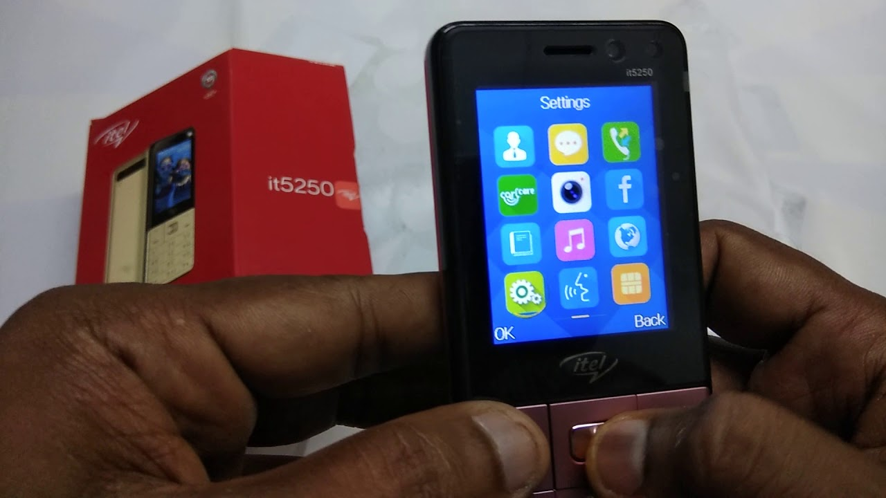 Talking phone virtually Blind can use this mobile Itel it5250 unboxing video