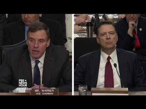 'We must find out the full story,' says Sen. Mark Warner at Comey hearing