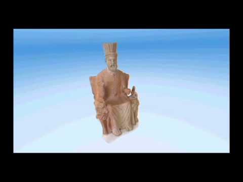 Grande statuette en terre cuite de Baal Hamon trônant