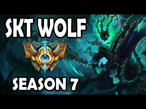 SKT T1 Wolf Thresh vs Blitzcrank Support Ranked Korea Season 7