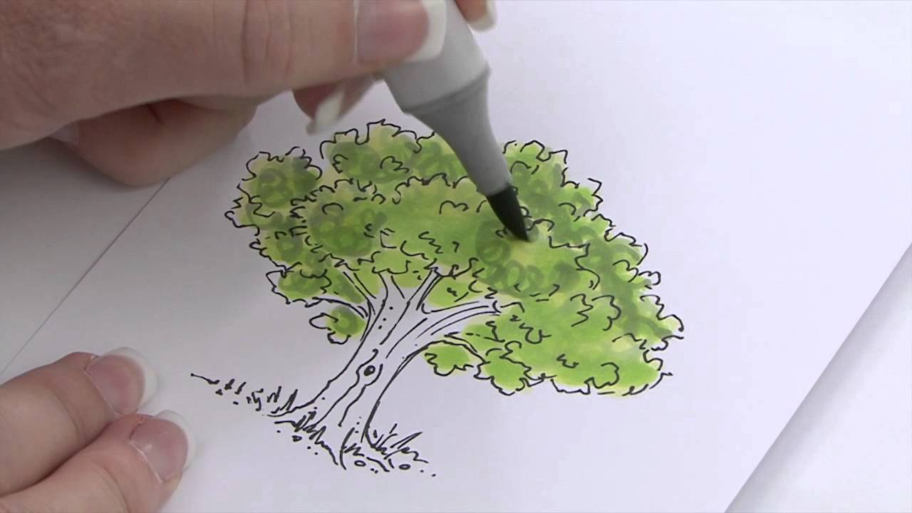 How to use Copic Markers to Color Foliage - YouTube