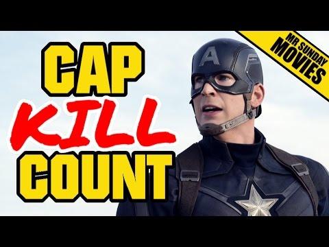 CAPTAIN AMERICA Movie Kill Count Supercut (Plus Robots)