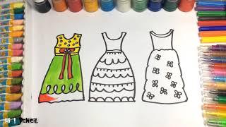 Cómo dibujar una falda de princesa para niñas, how draw, pintar, color, como aprende a dibujar,