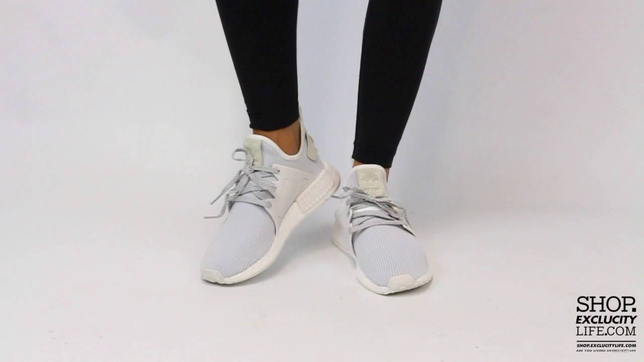huge selection of 35d28 3de71 Women s Adidas NMD XR1 PK Vintage White On-feet Video at Exclucity - YouTube