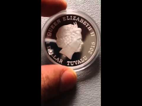 1 dollar silver Back to the future 2015 Tuvalu