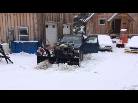 Trying out my home built snow blower 125hp