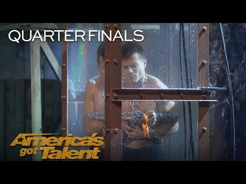 Lord Nil: Man Underwater Struggles To Escape To Save Fiance - America's Got Talent 2018