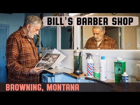 💈 Vintage Americana Haircut At Bill's Barber Shop In Browning, Montana