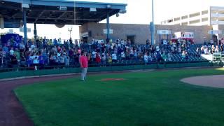 """Star Spangled Banner"" - Jan Michael de la Cruz @ Stockton Ports 8/25/13"