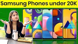Top 5 Samsung  smartphones under 20000 | June 2020 🔥🔥