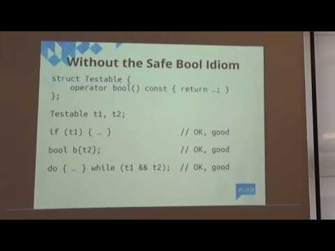 Lightning Talks Meeting C++ 2016 - Giuseppe D'Angelo - Safe bool idiom