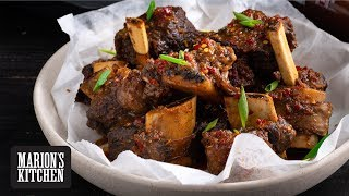 Barbecue ribs in oven