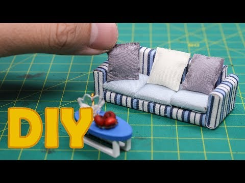 DIY Miniature - Sofa Mini Craft DollHouse