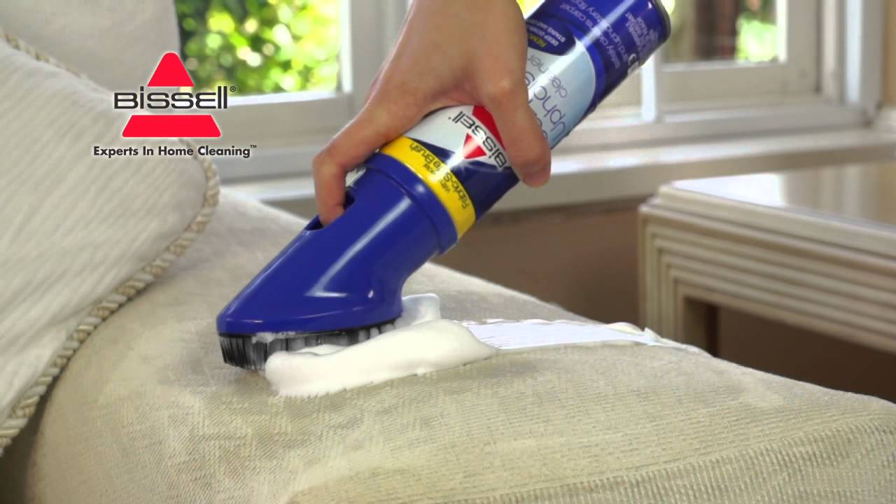sofa cleaner covers 96 inches long bissell carpet and upholstery youtube