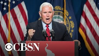Pence met with jeers and called a