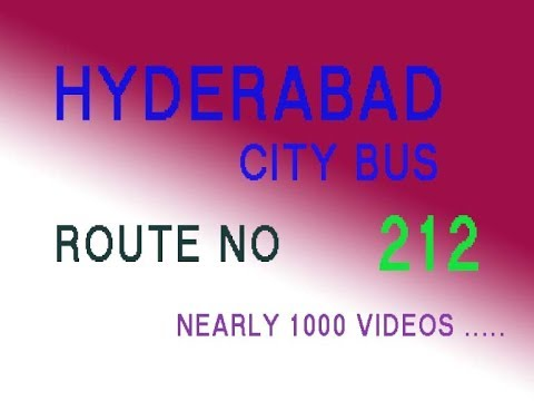 HYDERABAD CITY BUS FROM SECUNDERABAD TOBITS PILANI  ROUTE NO BUS NO 212