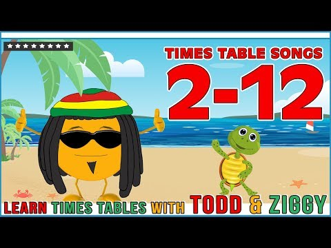 Times Table Songs 2 - 12  (Learn Multiplication with Todd & Ziggy The Fun Way!)