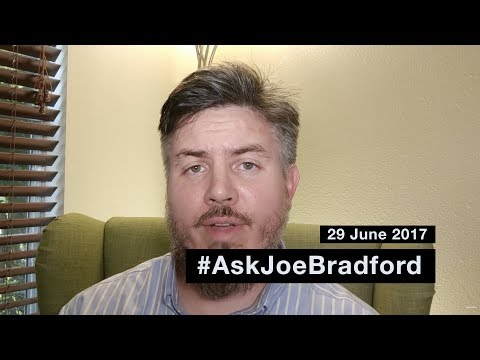 #AskJoeBradford for 29 June 2017