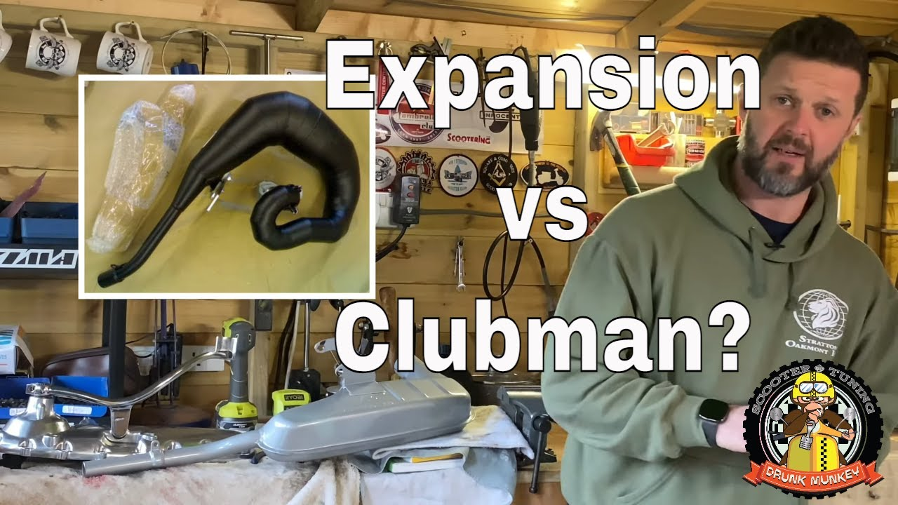 Lambretta & Vespa scooter exhausts - tuning speed performance - Expansion vs Clubman - which?