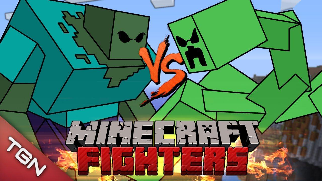 Minecraft fighters mutant zombie vs mutant creepers g1 - Minecraft zombie vs creeper ...