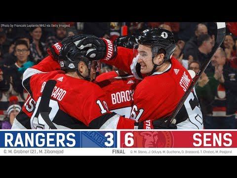 Sens vs. Rangers - Players Post-game