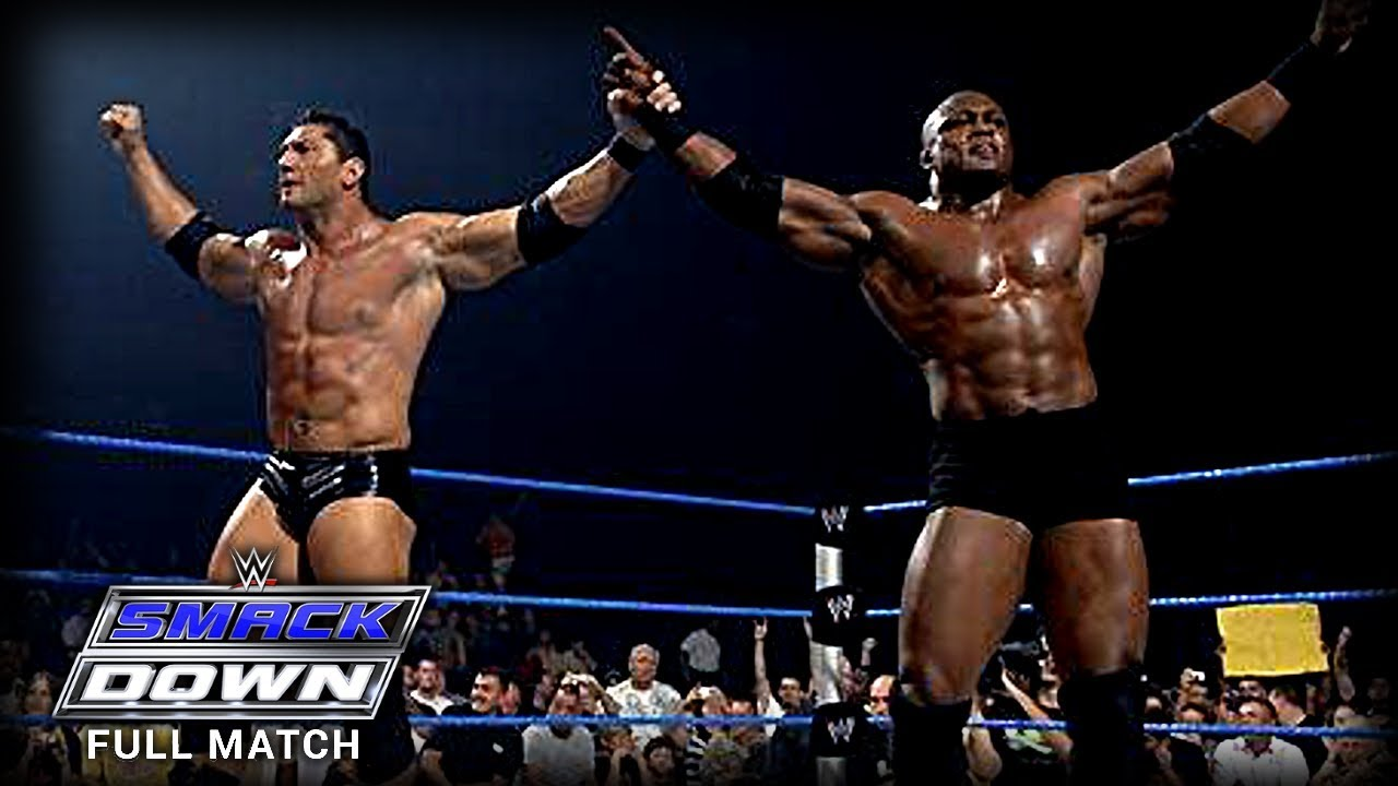 WWE   BOBBY LASHLEY VS BATISTA   (FIRST AND LAST TIME EVER)
