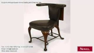 English Antique Queen Anne Seating And Chairs For Sale