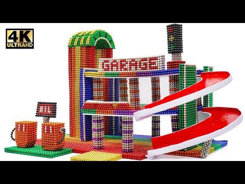 DIY - Cara Membangun Mobil Garasi Mini Dari Bola Magnet (Memuaskan Dan Santai) Magnet World 4K