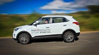 Hyundai Creta Лосиный тест. Торможение. Крены смотреть